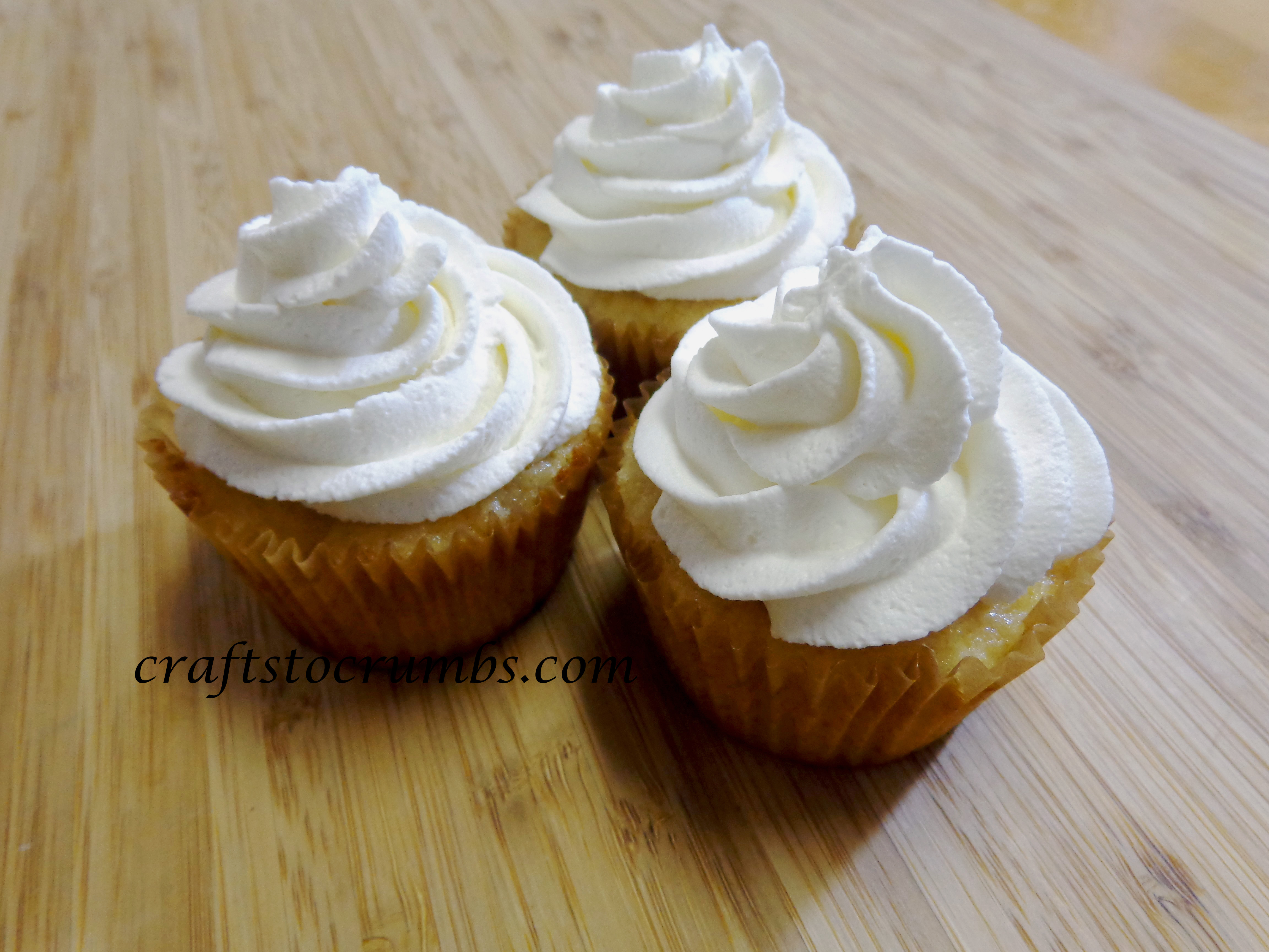 Crafts to Crumbs Whipped Cream Frosting