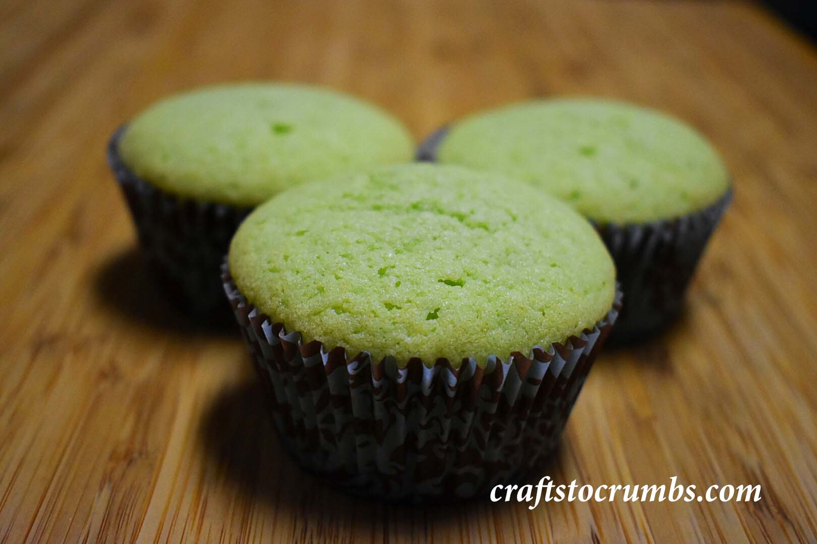 Crafts to Crumbs pandan cupcakes