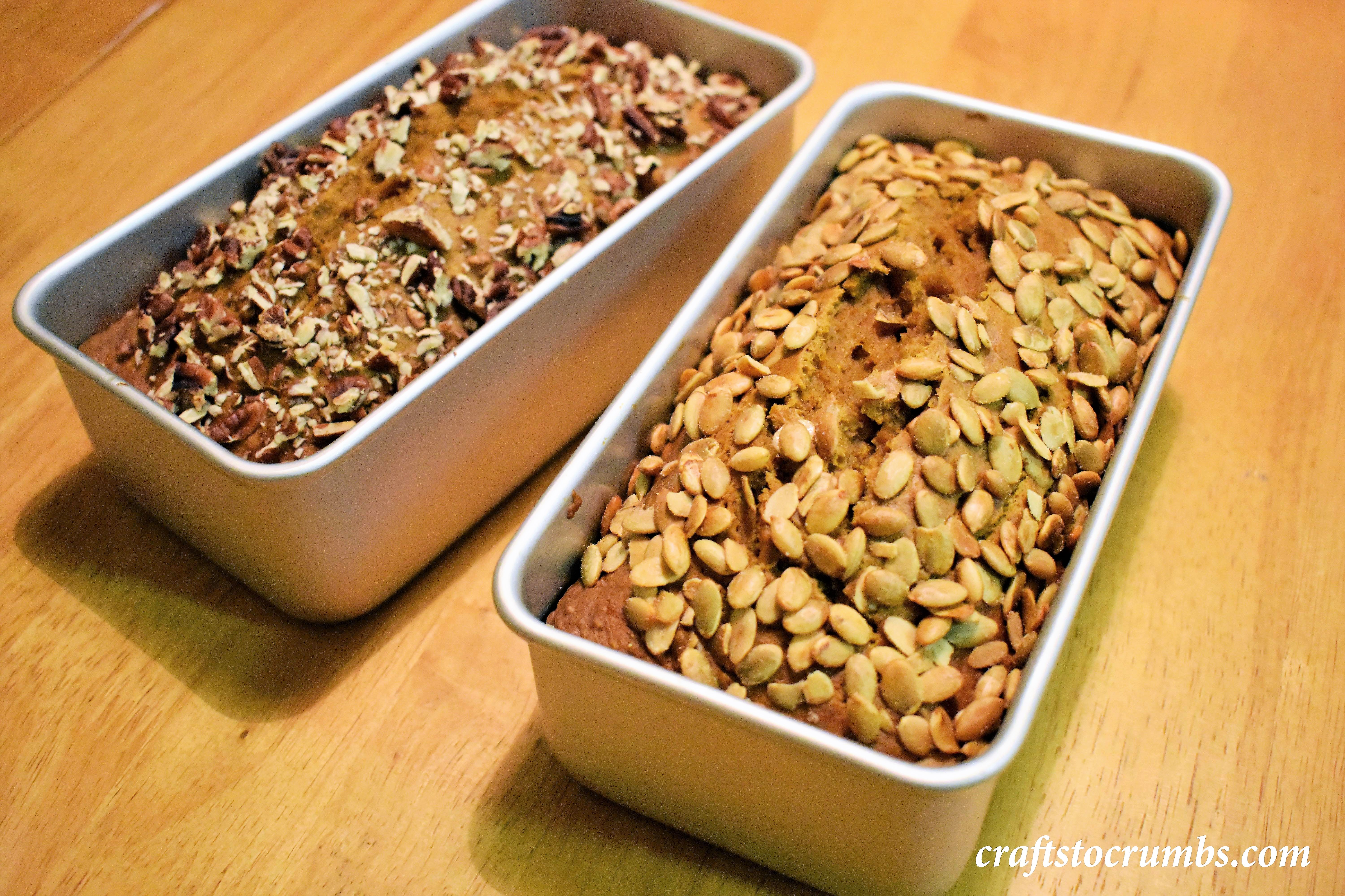 crafts to crumbs pumpkin bread loaves