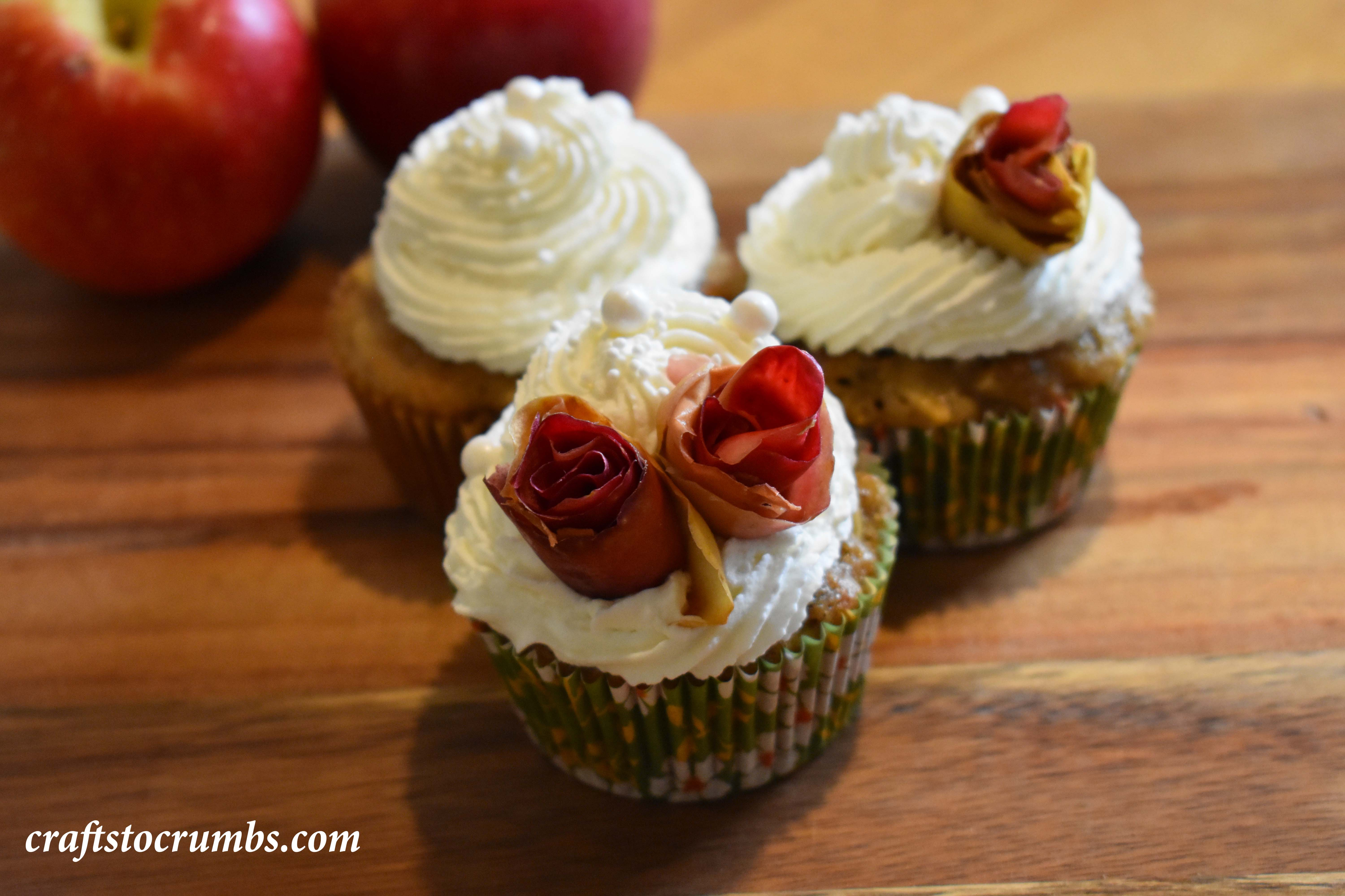 Crafts to Crumbs Apple Cupcakes