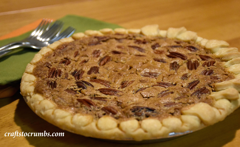 craftstocrumbs bourbon pecan pie