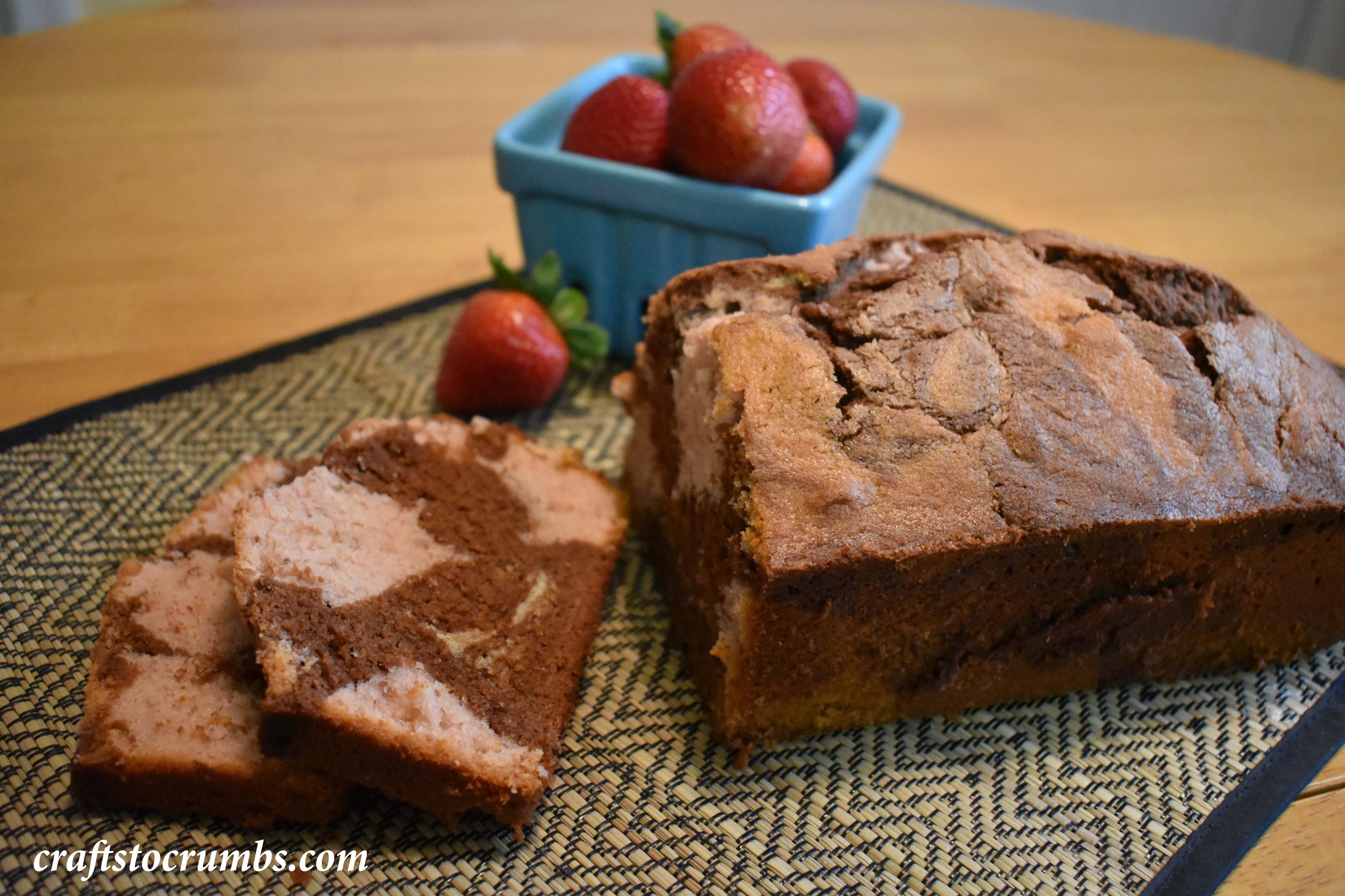 Chocolate Strawberry Pound Cake Crafts to Crumbs