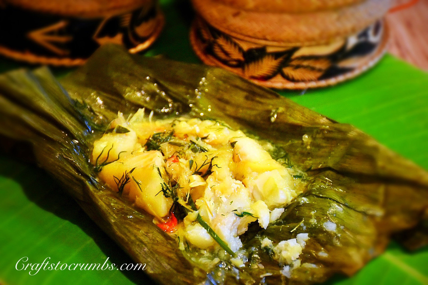 Mok Pa – Lao Steamed Fish